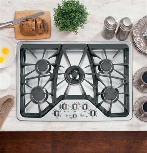 general electric gas cooktop ge caf 233 series 30 quot built in gas cooktop cgp350setss