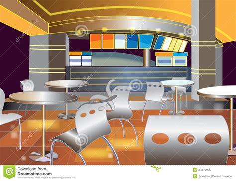 cafe interior design vector interior of a modern bar royalty free stock photo image