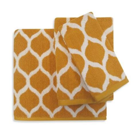 gold pattern bath towels buy gold elegant bath towels from bed bath beyond