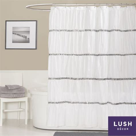white sequin shower curtain lush decor twinkle white shower curtain by lush decor