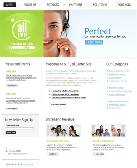 call center plan template call center website template 24750