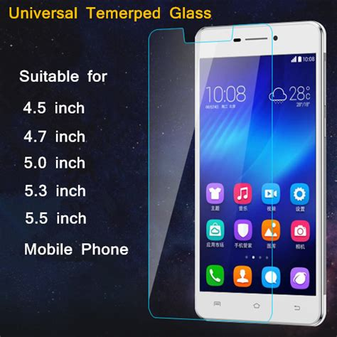 Tempered Glass Universal 3 5 Sunsway Screen Guard Anti Gores 2 5d ultra thin hd 9h 2 5d 0 26mm universal tempered glass for 4 5 4 7 5 0 5 3 5 5 inch mobile