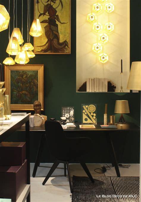 Formidable Couleur Mur Bureau Maison #1: Mur-vert-émeraude-ses-associations-dans-ma-déco-bureau-tom-dixon.jpg
