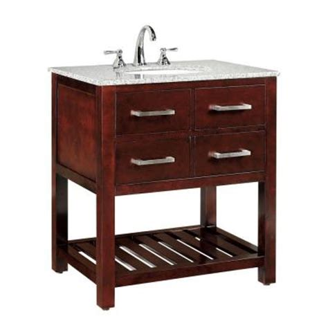 Home Depot Granite Vanity Top by Home Decorators Collection Fraser 31 In Vanity In