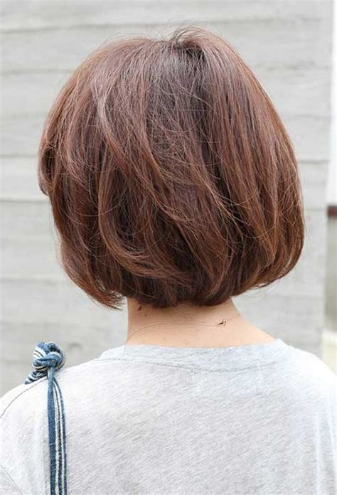 shorter hair in the back in yhe back longer on the front pics back view of short bob haircuts bob hairstyles 2017