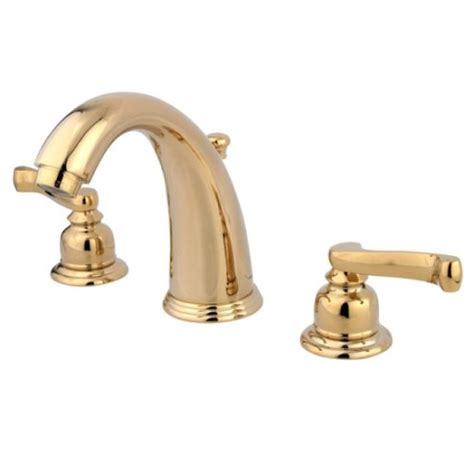 brass widespread bathroom faucet kingston brass kb982fl royale widespread lavatory faucet