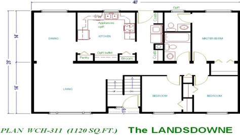1000 sq ft floor plans 1000 sq ft ranch plans house plans 1000 sq ft small