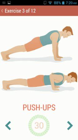 La Chaise Exercice Musculation by 5 Free 7 Minute Workout Apps