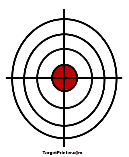 printable shooting targets bullseye printable crosshair large bullseye shooting target