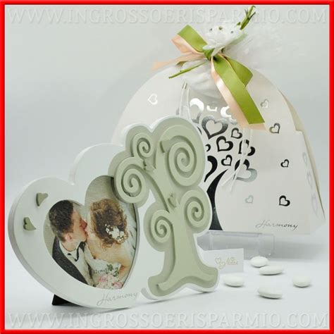 cornici bomboniere matrimonio portafoto matrimonio cuore ed albero della vita in legno