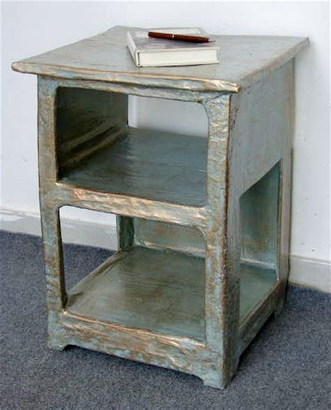 How To Make Paper Mache Furniture - make your own papier mache nightstand curbly