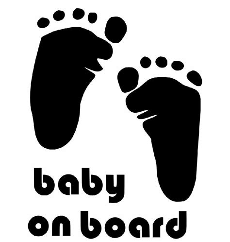 Sticker Mobil 018 Sticker On Board Sticker Baby On Board baby on board foot sign symbol bumper sticker
