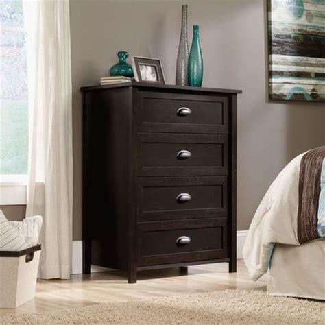 sauder black chest of drawers sauder 4 drawer chest estate black finish 415844