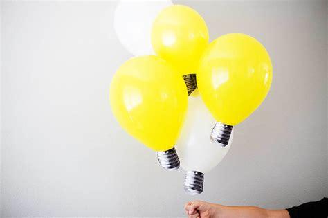 Diy lightbulb balloons all for the boys