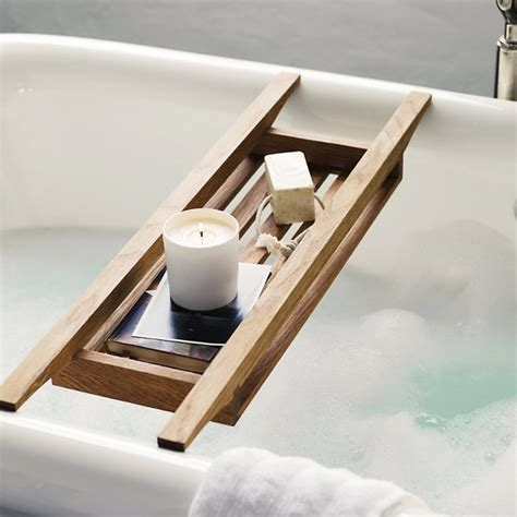 Hava Bathroom Accessories Fancy Wooden Bath Tidy