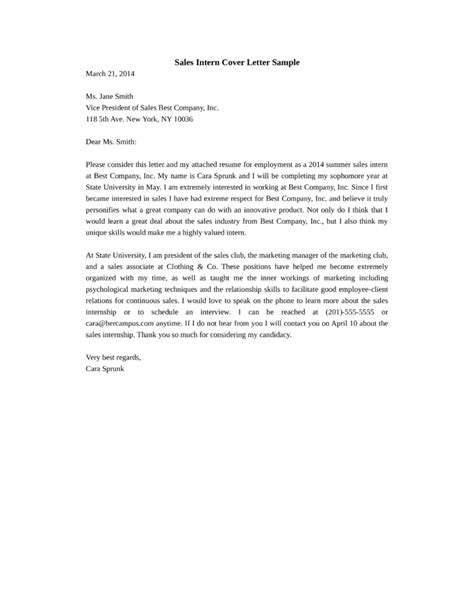sles of cover letter for sales representative cover letter sles sales