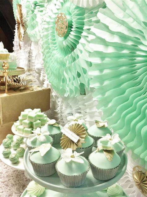 Mint Decorations kara s ideas mint and gold planning ideas supplies cake idea decorations