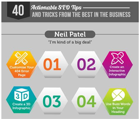 Tips From The Pros by 40 Actionable Seo Tips From The Pros Infographic