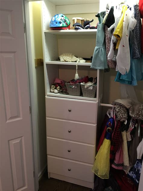 built in closet drawers falling track home