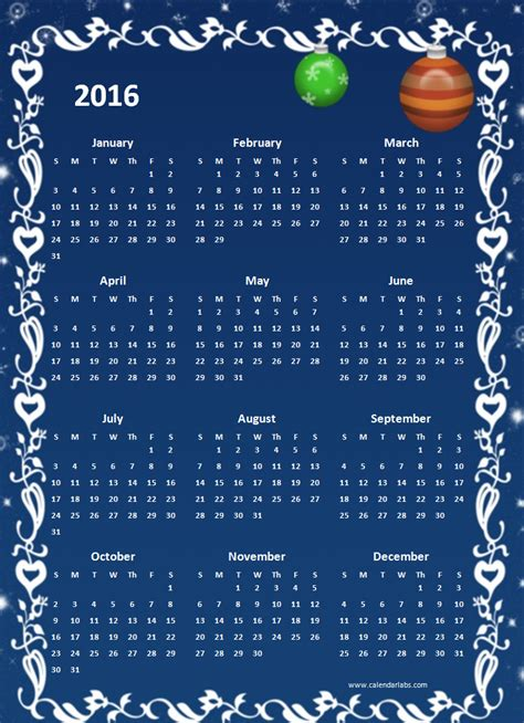 2016 excel yearly calendar 05 free printable templates 2016 yearly calendar template 05 free printable templates