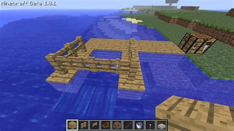 how to make a floating boat in minecraft how to make a dock in minecraft 1 8 youtube
