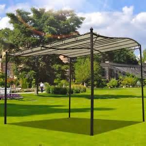 Wall Gazebo Awning 3m X 3m Deluxe Canopy Metal Wall Gazebo Awning Garden