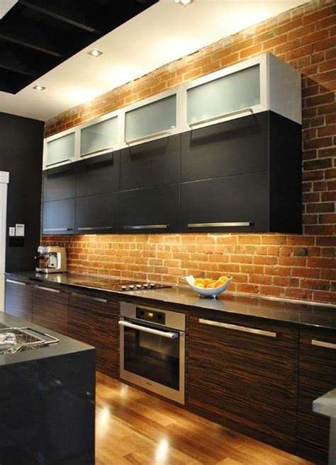 exposed brick kitchen 74 stylish kitchens with brick walls and ceilings digsdigs