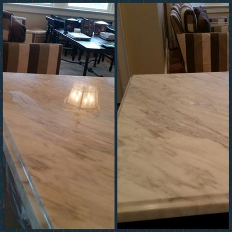 belmar nj changed polished marble countertop to a honed finish