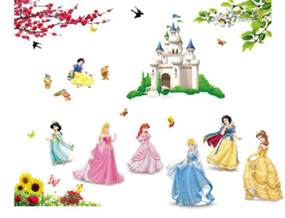 disney princess wall stickers ebay disney princess peel amp stick wall stickers and gems 9 97