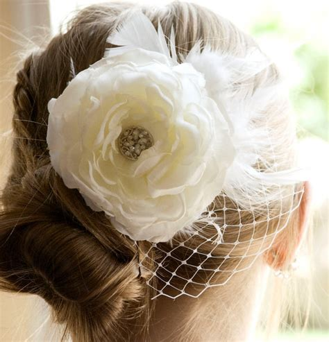 Vintage Bridesmaid Hair Pieces by Vintage Wedding Ivory Flower Hair Weddings White