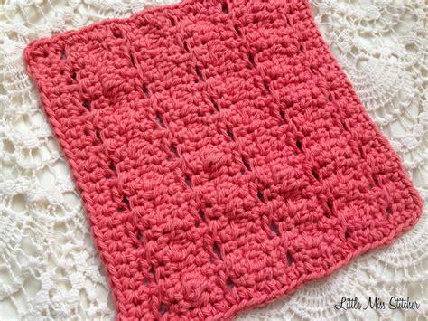 crochet pattern free video little miss stitcher 5 free crochet dishcloth patterns