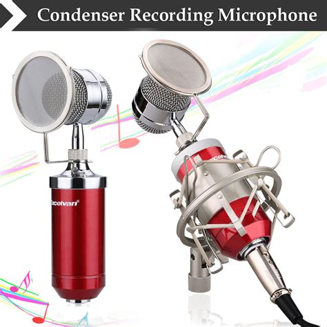 Cuci Gudang Professional Condenser Studio Microphone With Shock excelvan condenser microphone for studio recording with shock mount pink bm 8000 ebay