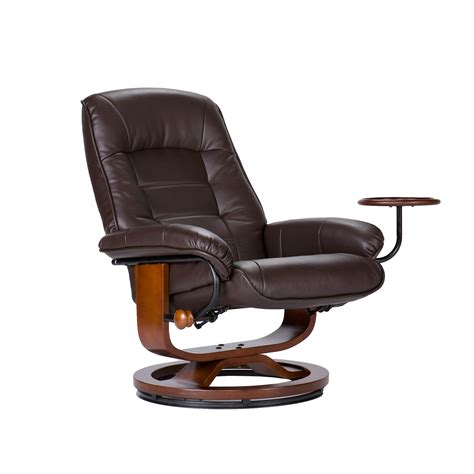 amazoncom bonded leather recliner  ottoman coffee brown kitchen dining