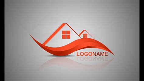 photoshop tutorial logo design house builder youtube