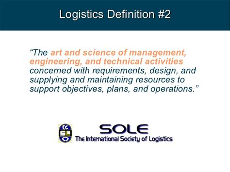 design logistics meaning logistic support