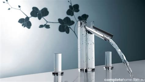 water pattern tap creative flower pattern tap design with transparent water