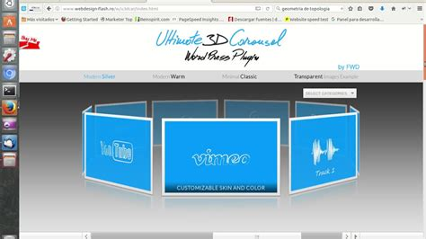 imagenes 3d html5 carrusel en 3d para nuestro sitio web de wordpress youtube