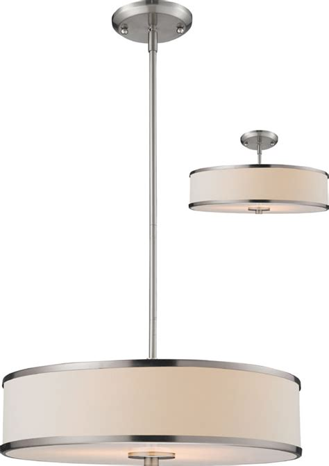 Drum Light Fixtures Z Lite 183 20 Cameo Brushed Nickel 53 5 Quot Drum Pendant Light Fixture Ceiling Fixture Zlt