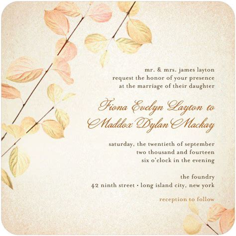 fall wedding invitation kits fall wedding invitation kits