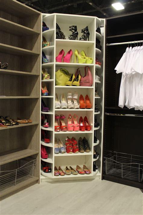 Rotating Closet System by The Revolving Closet Organizer Manually Rotates 360