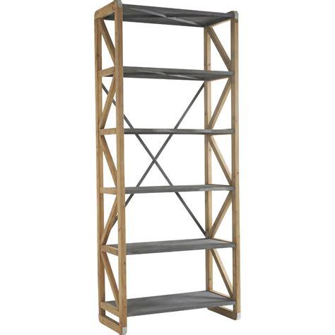 etagere 100 cm etag 232 re en bois m 233 tal et zinc domino 100x50xh241cm