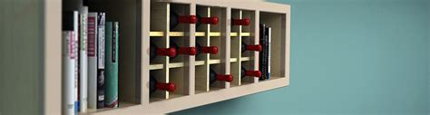 a wine rack from a bookshelf timber mart