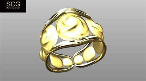 Simple Gold Ring Models by Simple And Gold Ring 3d Model 3d Printable Stl