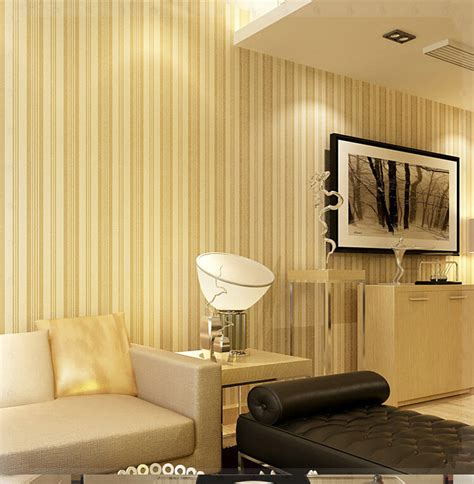 Striped Living Room Wallpaper by Velvet Flocking 3d Wallpaper Modern Minimalist Living