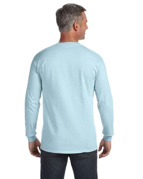 Comfort Colors Chalky Mint Comfort Colors Long Sleeve Pocket Tee Shirtspace Com