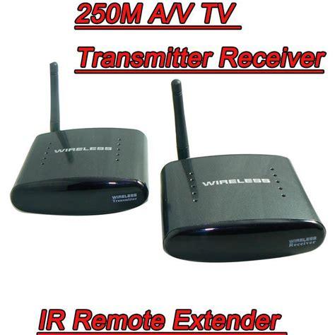 2018 250m 2 4ghz av wireless tv antenna transmitter receiver infrared sender audio ir
