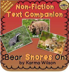 libro bear snores on legend of sleepy hollow book companion non fiction passages printables