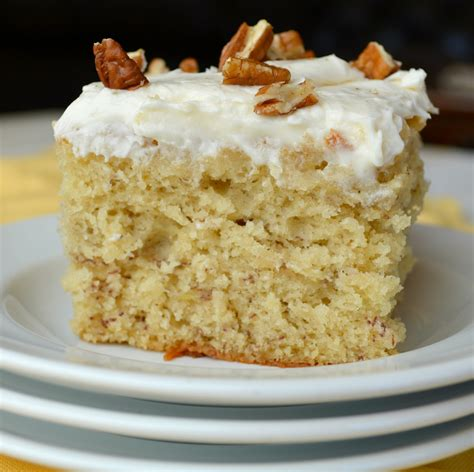 Banana Cake banana cake with cheese frosting gonna want seconds