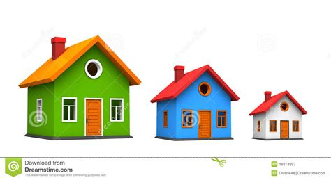 three homes three houses royalty free stock photography image 16814897