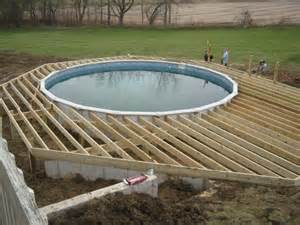 how to build above ground pool deck framing outdoor building ideas deck